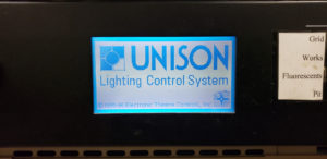 ETC Unison Lighting Control System LCD screen